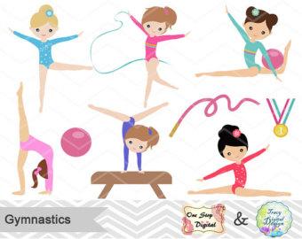 Gymnastics clipart purple Gymnastic Clip Art Gymnastic Girl