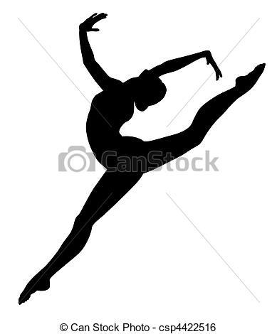 Gymnast clipart vector Abstract Clip csp4422516 Gymnastic vecror