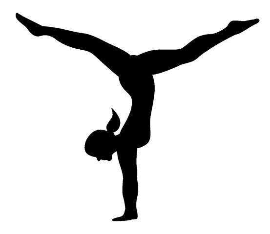 Gymnast clipart silhouette The gymnastics clipart clipart the