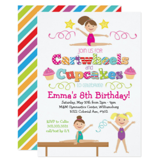 Gymnastics clipart birthday party Party Zazzle Birthday & &