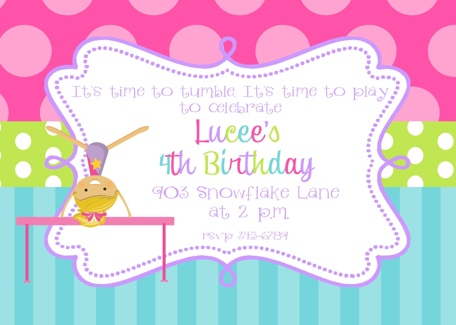Gymnastics clipart birthday party Birthday Create 211120162 To Birthday