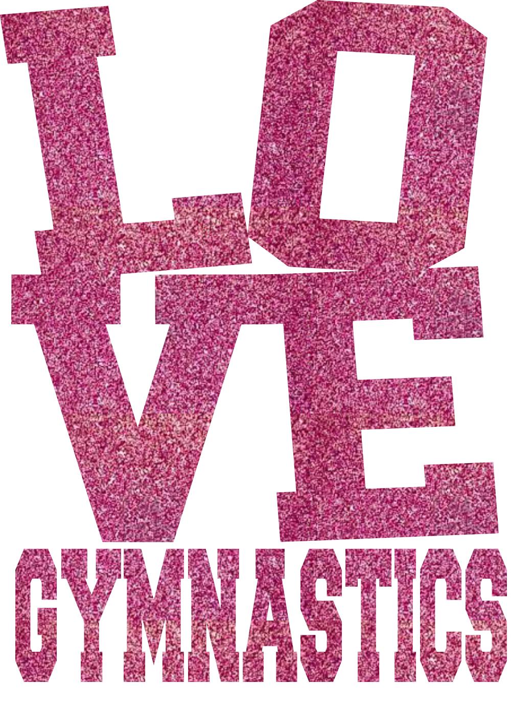 Gymnastics clipart glitter Gymnastics LOVE LOVE transfer transfer