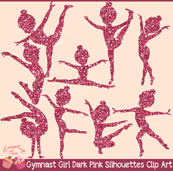 Gymnastics clipart glitter Glitter Studio 1EverythingNice  Dark
