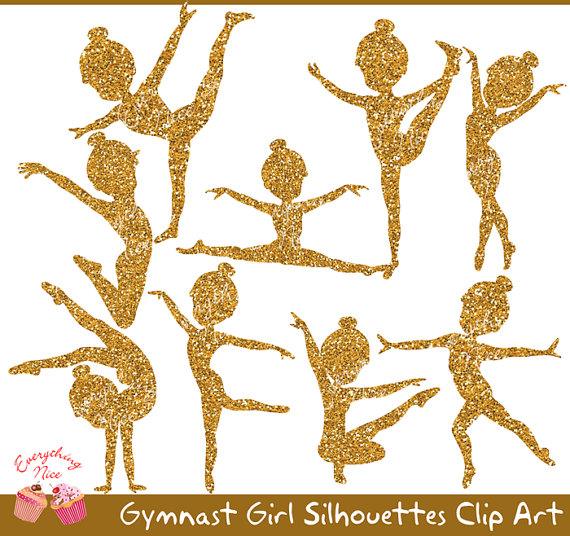 Gymnastics clipart glitter Clip Gymnast on Glitter Girl