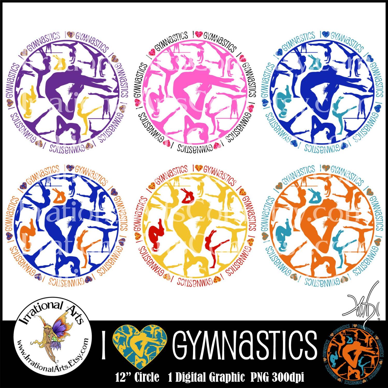 Gymnastics clipart i heart Gymnastics I HEART graphic 1