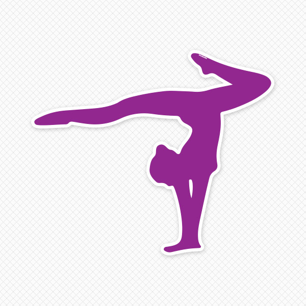 Gymnastics clipart purple Clipart Purple Panda Images Gymnast