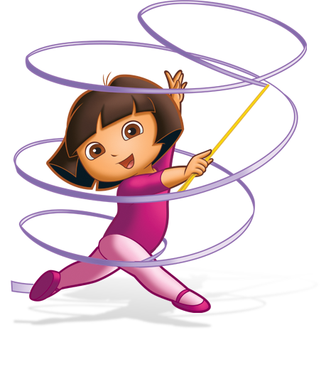 Gymnastics clipart ribbon Is all cartoons a Gymnastics