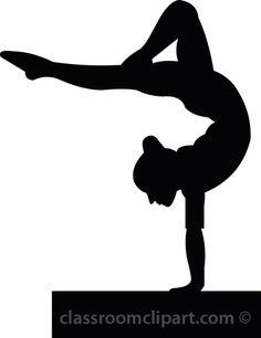 Shadow clipart gymnast #12