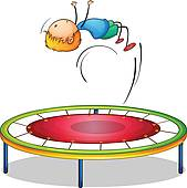 Gymnastics clipart trampoline gymnastics Free A Art boy playing