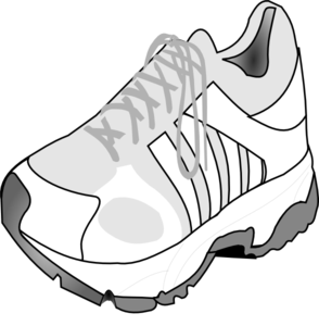 Gym-shoes clipart Clker Running Shoe com