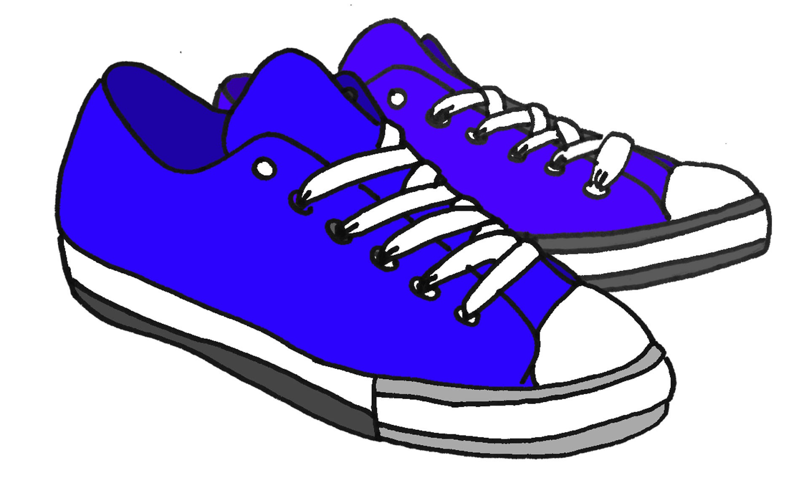 Gym-shoes clipart Vector Running cartoon clip clipart