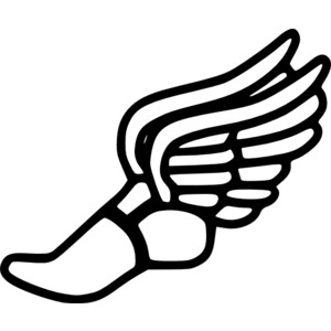 Red clipart running shoe  Running clipart Free clipart
