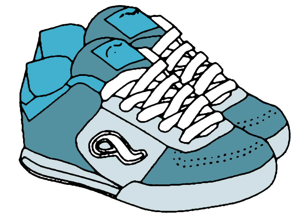 Sneakers clipart Panda Running Shoes Clipart Clipart
