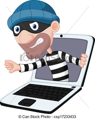 Cyber clipart cyber crime Cartoon  cartoon crime Vectors