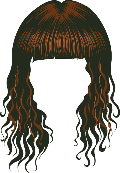 Red Hair clipart wig #13