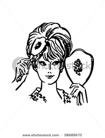 Hair clipart 50's Advertising quality Shutterstock vectors can