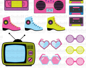 Hair clipart 80's Files 80s vector clipart Etsy