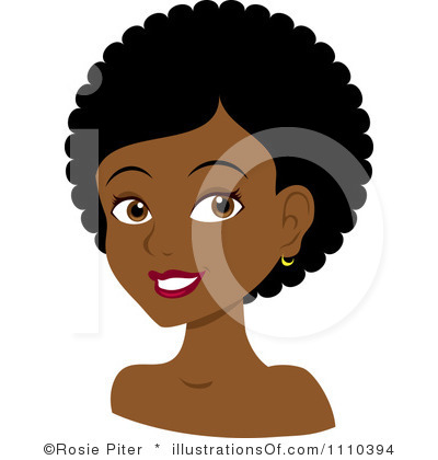 Woman clipart curly Natural Clipart Images Free Hair