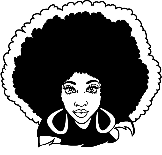 Hair clipart afro hair Afro Woman 83KB Quotes collection