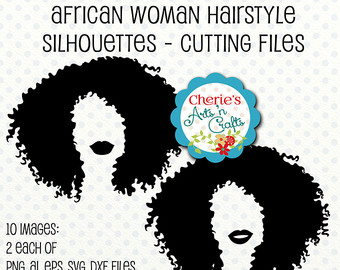 Hair clipart afro hair Silhouettes Afro Silhouette Silhouettes svg