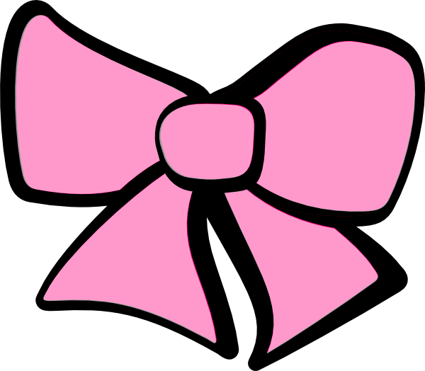 Pink Hair clipart pink bow #2