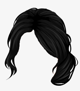 Hair clipart balck Clip And art long Black