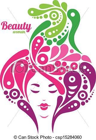 Hair clipart beautiful nature Silhouette of design csp15284060 Beautiful