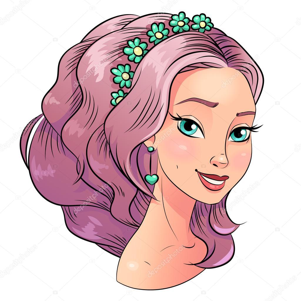 Hair clipart beautiful woman Style color  Vector hair