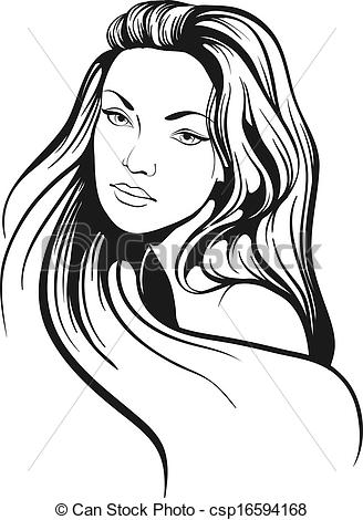 Hair clipart beautiful woman With with hair woman hair