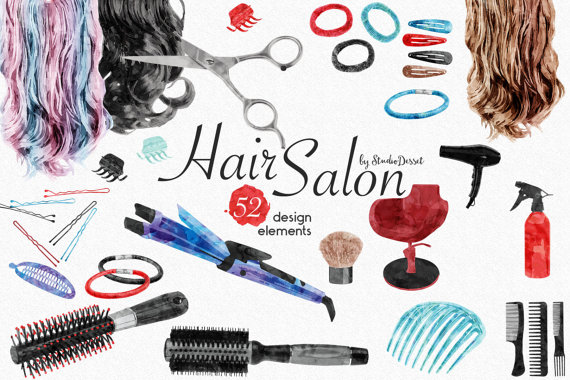 Hair clipart beauty product Hair Cliparts Hair Watercolor Watercolor