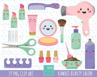 Hair clipart beauty product Etsy clipart commercial salon Kawaii