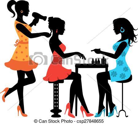 Hair clipart beauty shop Clipart salon: Hair Illustration kid