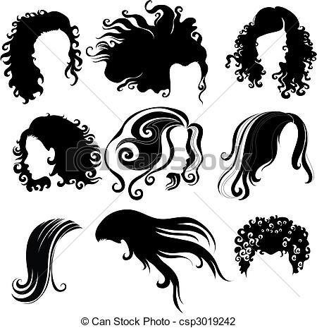 Hair clipart big hair Of hair woman hair for