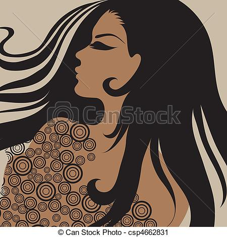 Hair clipart big hair Of with Vector with hair