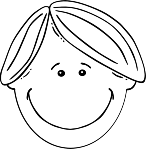 Hair clipart black and white Online Black & & Boy