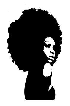 Dark Hair clipart just hair Black Female Beatiful Silhouette Love