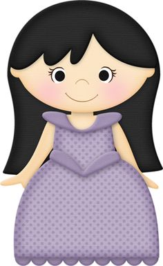 Dark Hair clipart cartoon #8