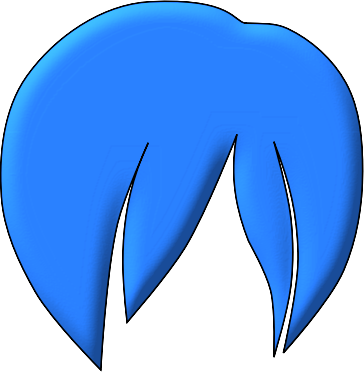 Hair clipart blue Free Art Clip  Anime
