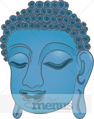 Hair clipart blue Menu Clip Buddha Art Clip