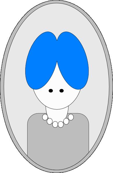 Hair clipart blue Hair vector com art Grandma