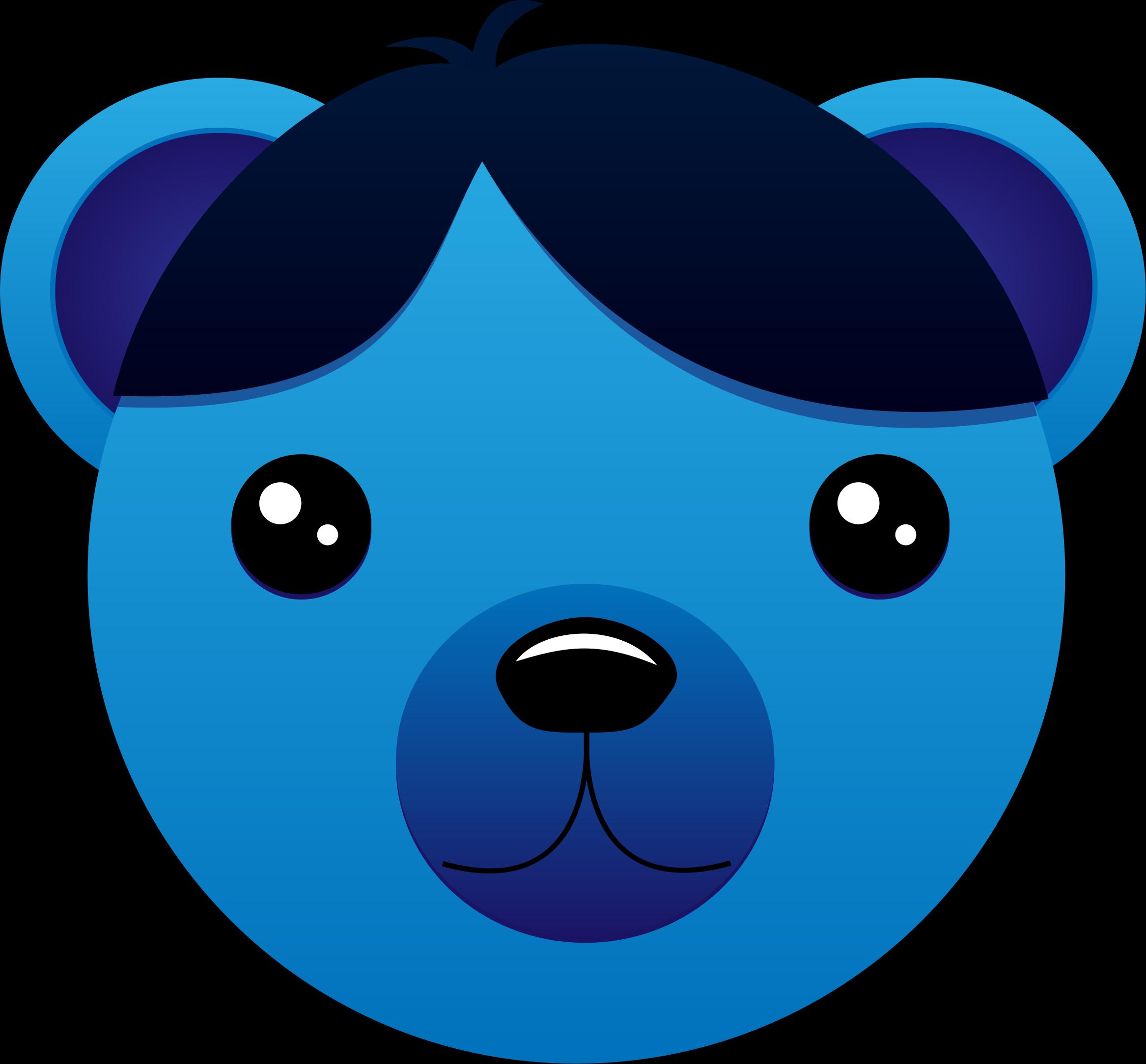 Hair clipart blue Bear hair Blue hair Clipart