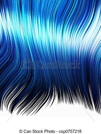Hair clipart blue Comic 521 Illustrations hair Stock