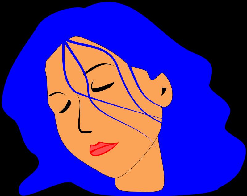 Hair clipart blue Cartoon Free Art Art Art