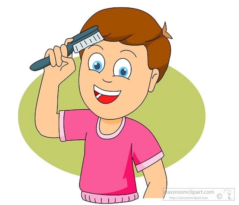 Hair clipart boy hair X 550 combing brushing clipart
