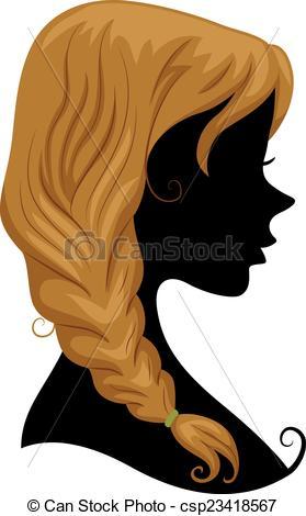 Hair clipart braid Art Clip  Silhouette Hair