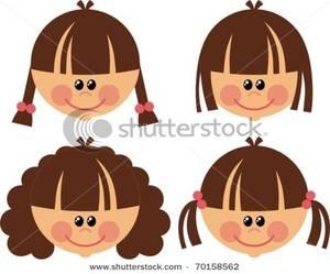 Hair clipart brunette hair Hair Brunette with Styles Four
