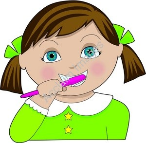 Hair clipart brush tooth Brush Images girl%20brushing%20teeth%20clipart Free Panda