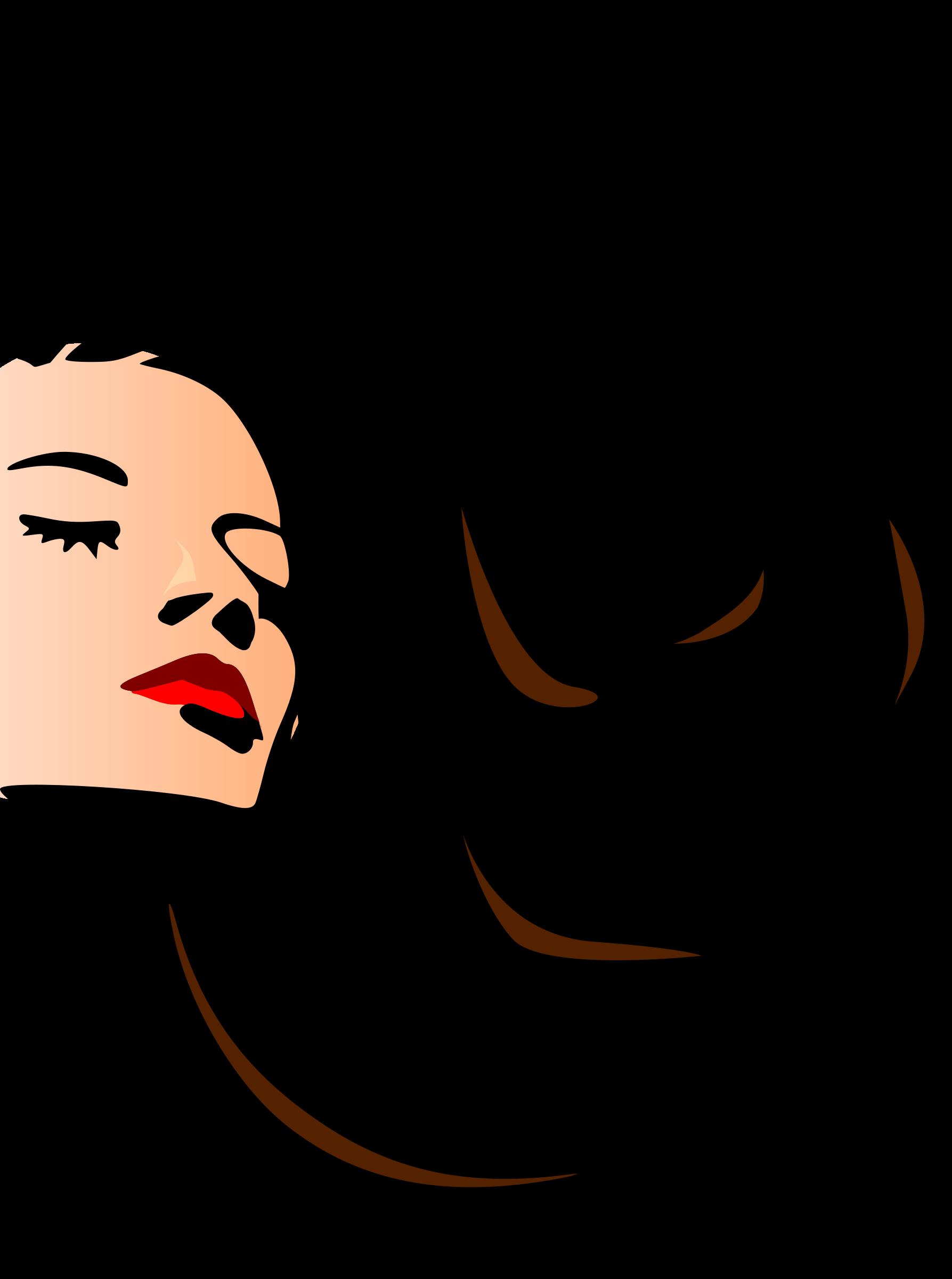 Hair clipart cartoon BIG Clipart woman (PNG) IMAGE