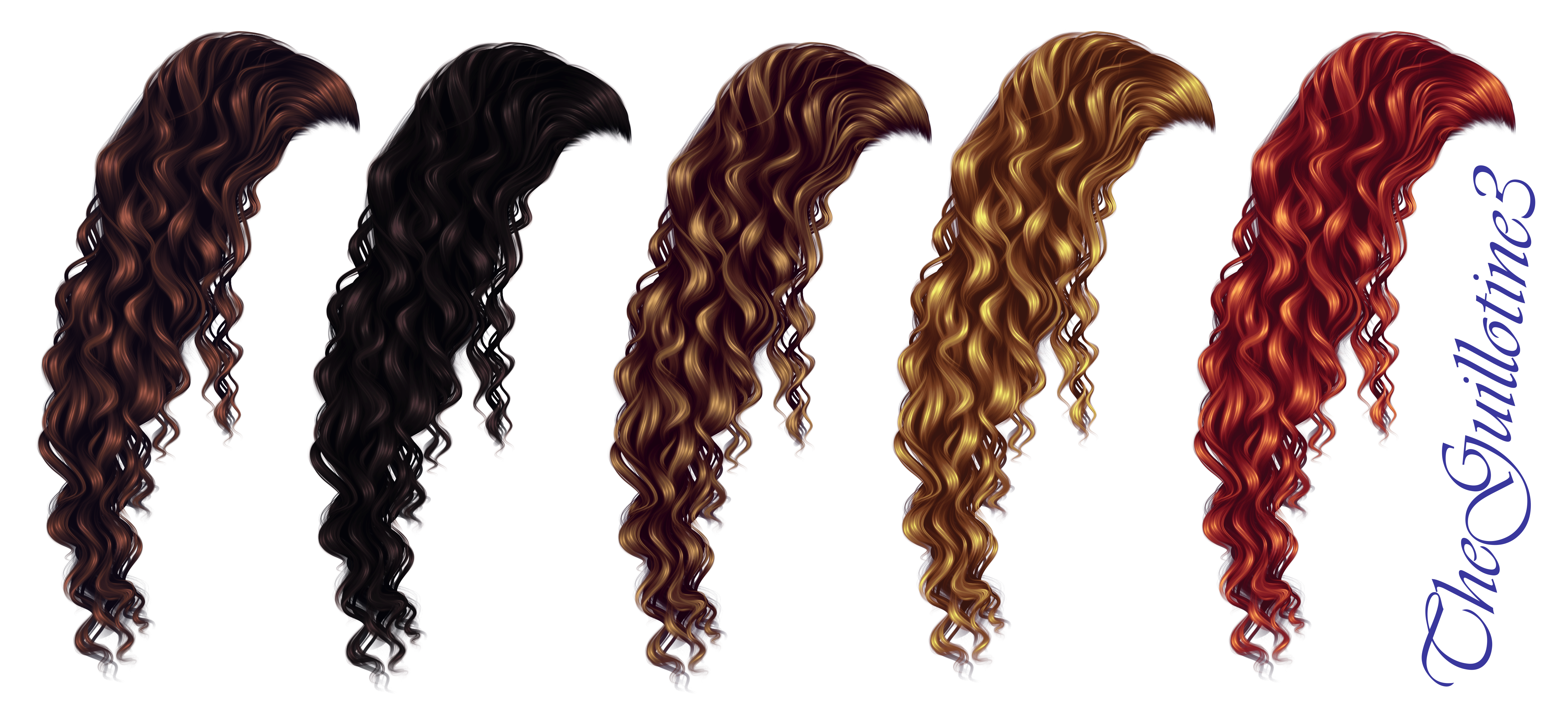 Hair clipart curly hair wig Curly DeviantArt by by by