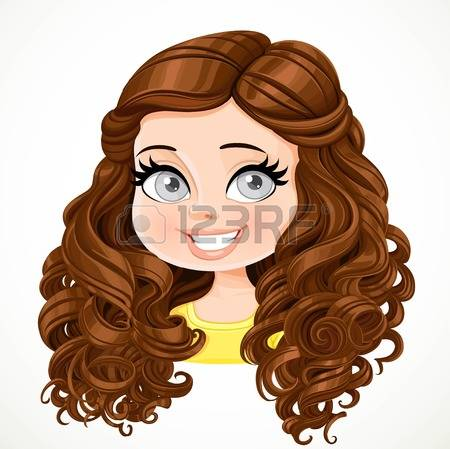 Hair clipart curly hair wig Brown clipart Brown Brown clipart